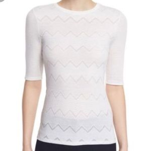 Theory White Knit Top
